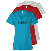 Oh What Fun Women's Relaxed V-Neck Tee