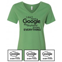 Google Women's Relaxed V-Neck Tee