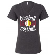 Baseball Softball Mom Women's Relaxed V-Neck Tee
