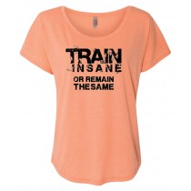 Train Insane Women's Triblend Dolman Shirt