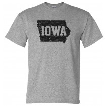 Iowa Grunge Unisex Short Sleeve Tee in Youth & Adult