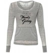 Thanks and Giving Women's Thermal Long Sleeve Tee