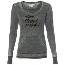 Alive. Blessed. Grateful. Women's Thermal Long Sleeve Tee