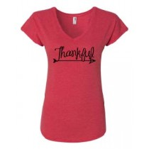 Thankful Women's Triblend V-Neck Tee in 4 colors