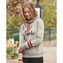 I {Heart} Santa Women's Fleece Hoodie