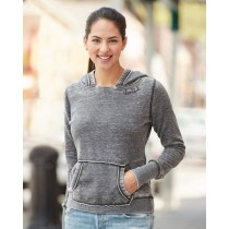 Thankful Neckline Embroidered Women's Zen Fleece Solid Color Pullover Hood Sweatshirt in 5 colors