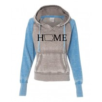 IOWA HOME J America Women's Zen Fleece Raglan Hooded Sweatshirt in 4 colors