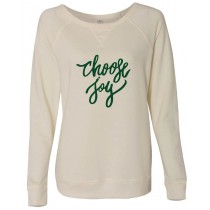 Choose Joy Vintage French Terry Scrimmage Pullover Sweatshirt