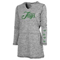 Gehlen Jays Shirt Dress with Green Glitter
