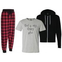 Bed Is My Happy Place Short Sleeve Bundle