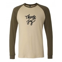 Choose Joy Unisex Long Sleeve Jersey Baseball Tee