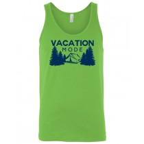 Vacation Mode Camping Unisex Tank in youth & adult