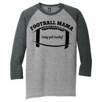 Football Mama 3/4 Tee in several colors