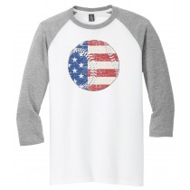 Flag in Baseball 3/4 Tee in several colors