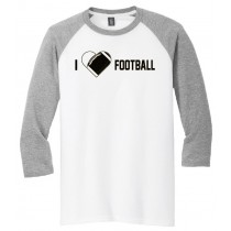 I {heart} Football 3/4 Tee in several colors