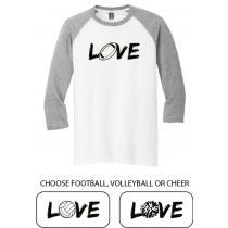 LOVE {sports} 3/4 Tee in several colors