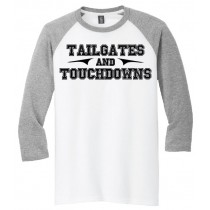 Tailgates & Touchdowns 3/4 Tee in several colors