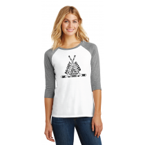 Concession Stand DTG Ladies 3/4 Sleeve Raglan in Adult Sizes