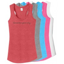 Remember Your Why Ladies Racerback Tank