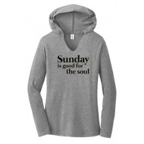 Sunday Is Good For The Soul Ladies Perfect Long Sleeve Hoodie