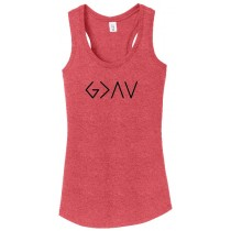 God Is Greater Than The Highs & Lows Ladies Perfect Triblend Racerback Tank Top