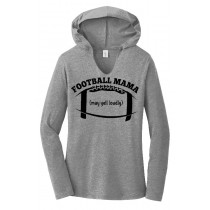 Football Mama Ladies Perfect Long Sleeve Hoodie