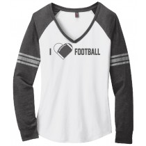 I {Heart} Football Ladies Game Day V-Neck Tee