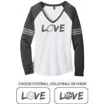 LOVE {sports} Ladies Game Day V-Neck Tee