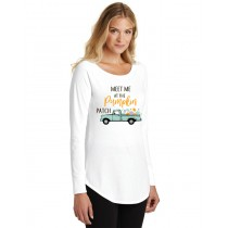 Meet Me At The Pumpkin Patch Ladies Perfect Long Sleeve