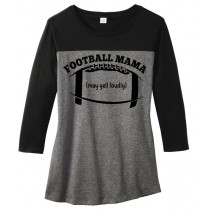 Football Mama Juniors Rally 3/4-Sleeve Tee
