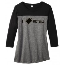 I {heart} Football Juniors Rally 3/4-Sleeve Tee