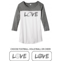 LOVE {sports} Juniors Rally 3/4-Sleeve Tee