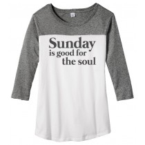 Sunday Is Good For The Soul Juniors Rally 3/4-Sleeve Tee
