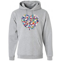 Heart Books Hooded Sweatshirt