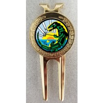 Green Lizard Golf ball marker/divot tool