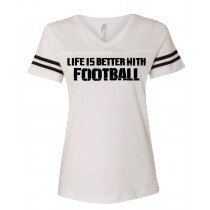 Better With Football Women's Football Jersey Tee