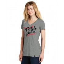 Pitch Please Ladies Heritage Blend V-Neck Tee