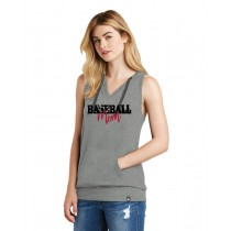 Baseball Mom Ladies Heritage Blend Hoodie Tank