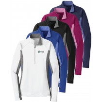 FVH February Feature Ladies Sport Tek Stretch Contrast 1/2 Zip Pullover