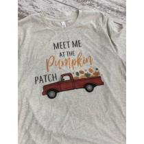 Meet Me At The Pumpkin Patch Unisex Short Sleeve Tee