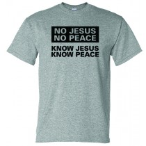 Know Jesus Know Peace Gildan Short Sleeve Tee