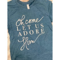 Oh Come Let Us Adore Him Unisex Tee