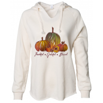 Thankful Grateful Blessed Women's Lightweight Wavewash Pullover