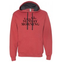 Sunday Morning Hooded Pullover Sweatshirt