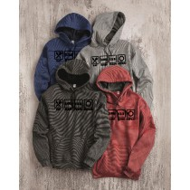 Eat Sleep Teach Repeat Microstripe Hooded Pullover Sweatshirt