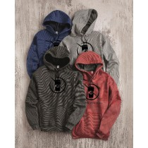 Pumpkin Spice Rebel Microstripe Hooded Pullover Sweatshirt