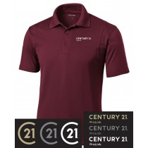 Century 21 Contrast Stitch Micropique Sport-Wick Polo in Adult & Ladies