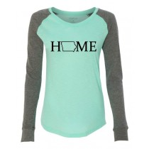 IOWA HOME Women's Preppy Patch Slub T-shirt in 4 colors