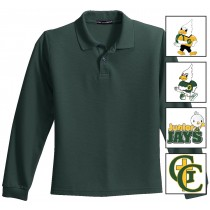 GC Youth Port Authority Poly-Cotton Long Sleeve Polo